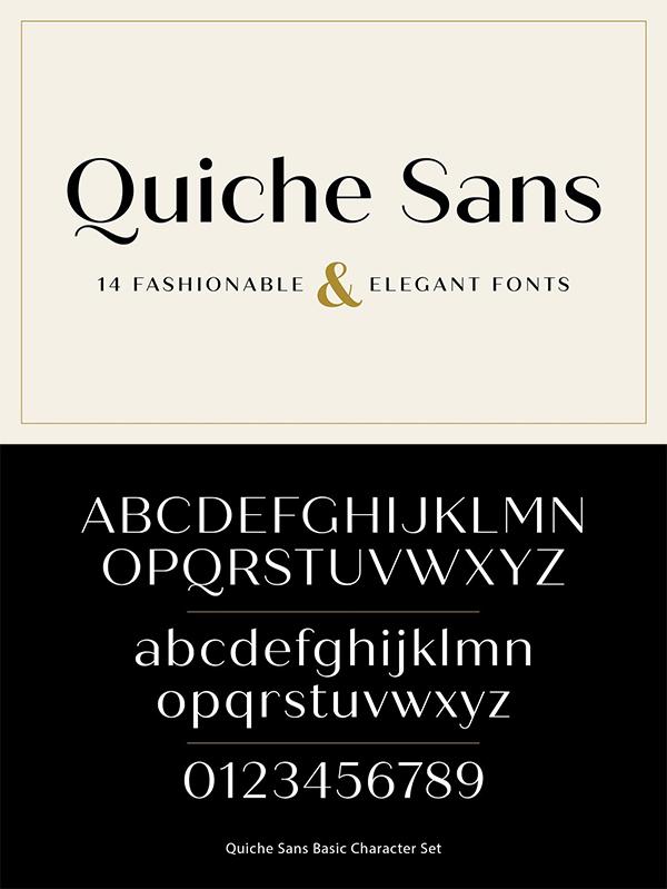 Quiche Sans Font
