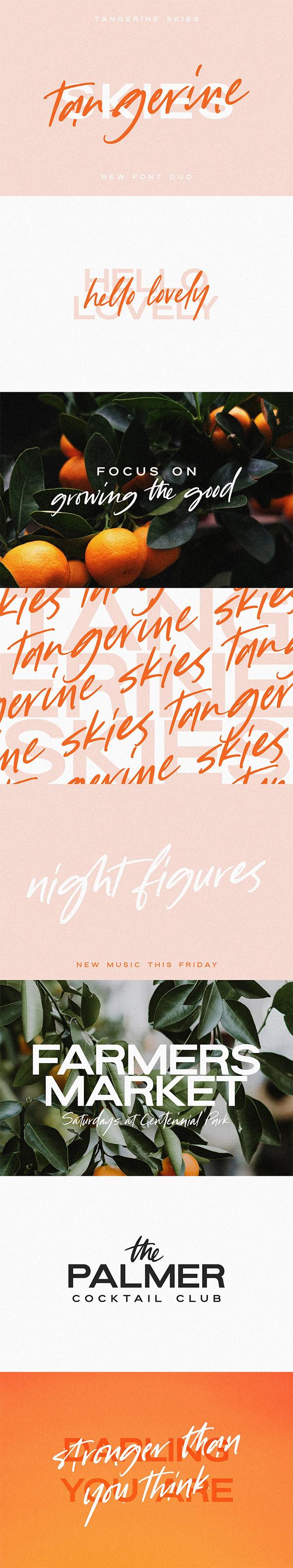 Tangerine Skies Font