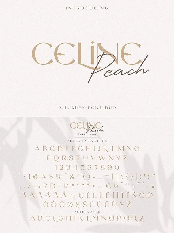 Celine Peach - A Luxury Font