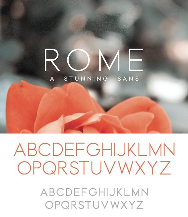 Rome | A Stunning Sans Serif Font