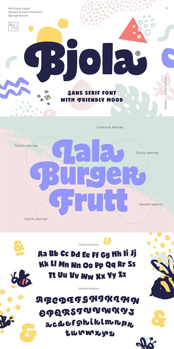 Bjola Sans Serif Font