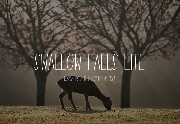 Swallow Falls Lite Free Font