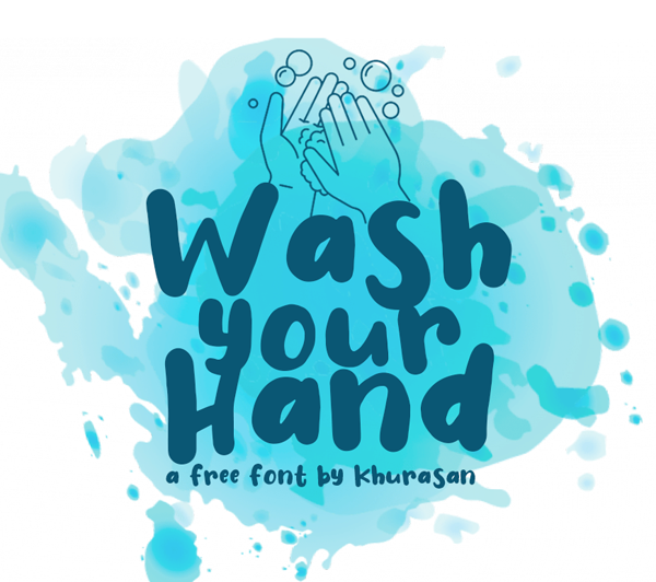 Wash Your Hand Free Font