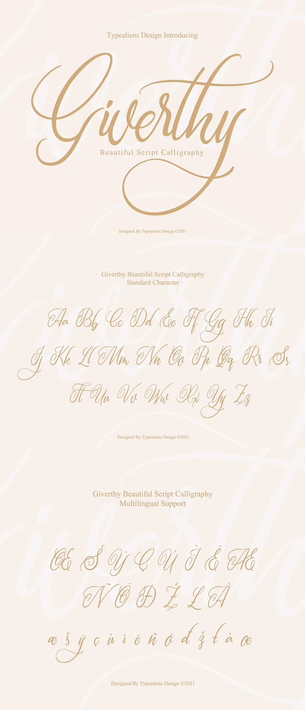 iverthy Script Calligraphy Font