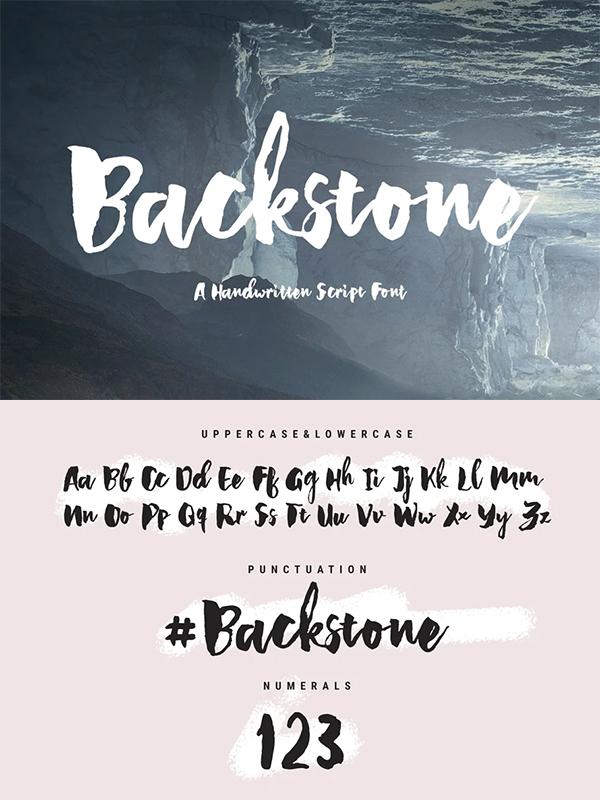 Backstone - A Handwritten Script Fon