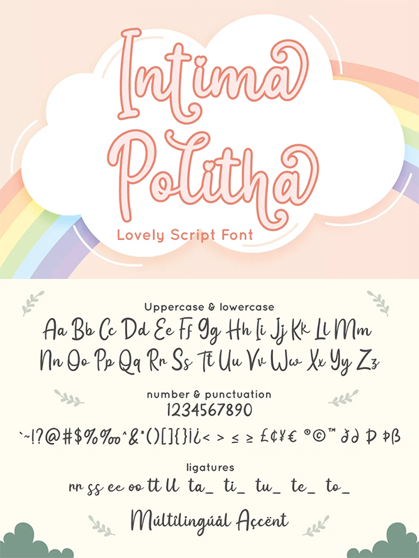 Intima Politha Script Font