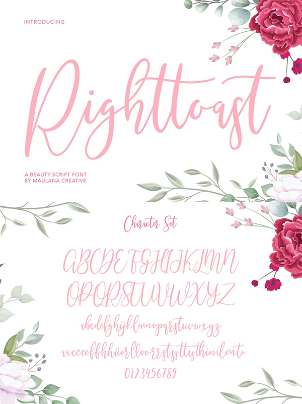 Righttoast Beauty Script Font