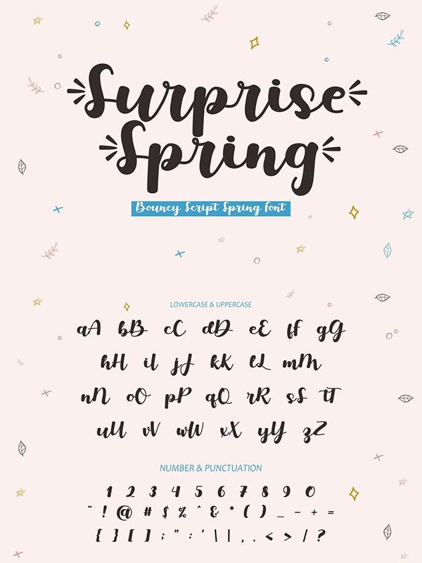 Surprise Spring Bouncy Script Font