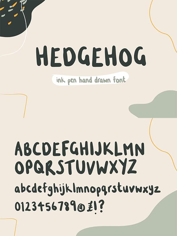 Hedgehog Hand Written Font
