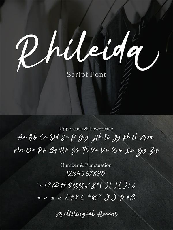 Rhiledia Script Font