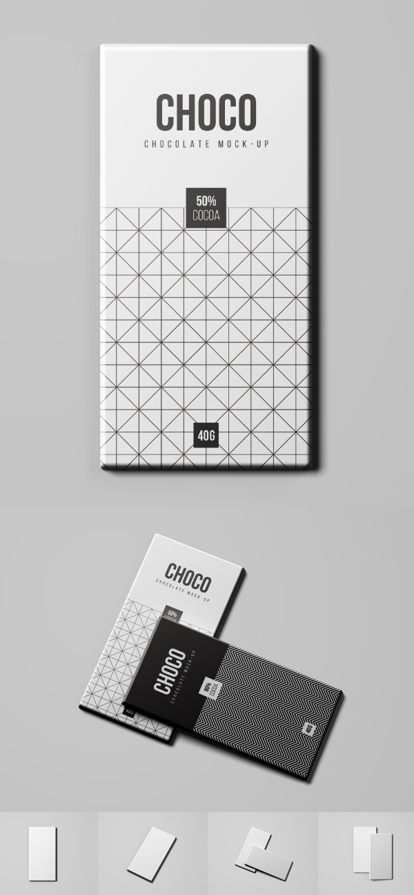 Free Chocolate Package Mockup