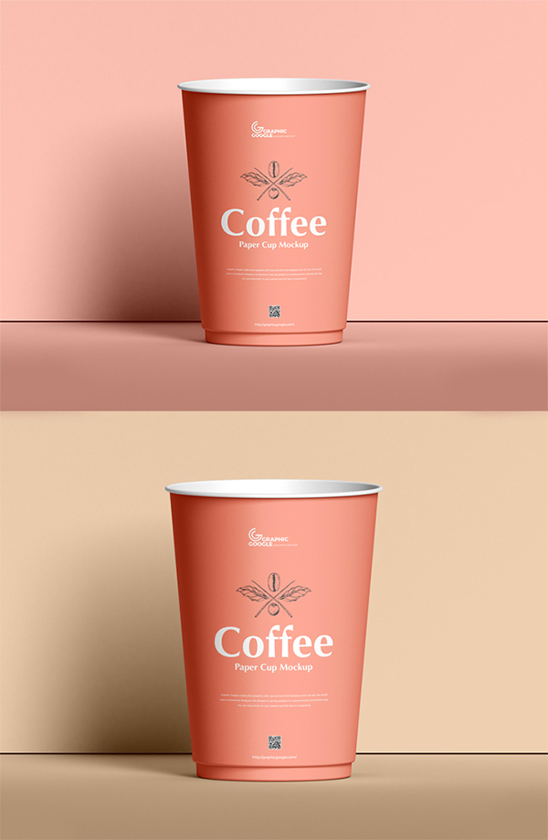 Free Simple Creative Coffee Cup PSD Mockup