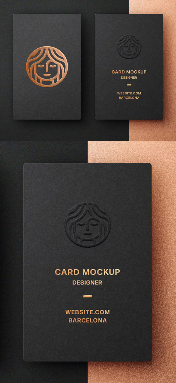 Freebie: Foil Embossing Business Card Mockup