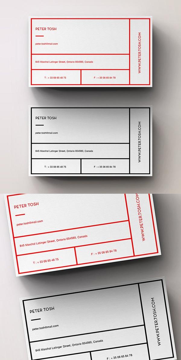 Unique Simple Business Card Template