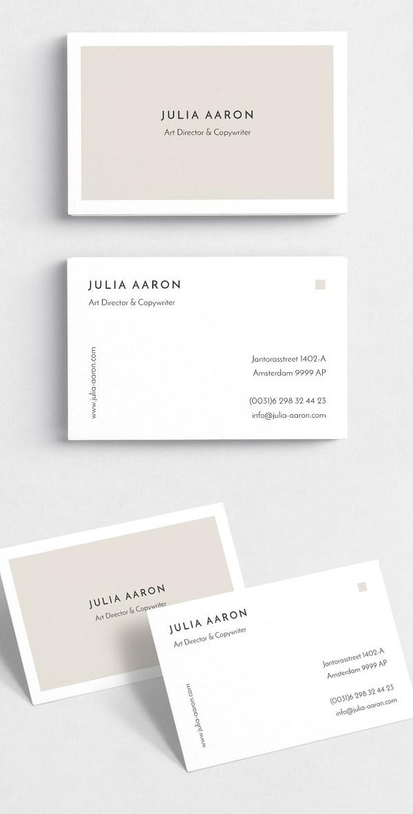 Aaron Simple Business Card Template