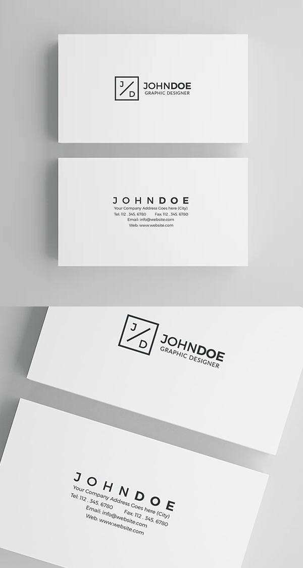 White Modern Business Card