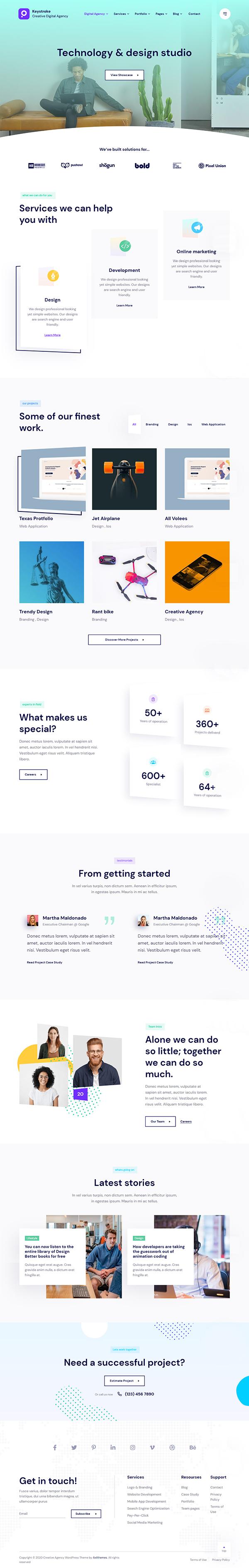 Keystroke - Creative Agency WordPress Theme