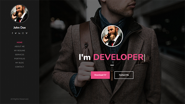 Giza - Creative Resume WordPress Theme