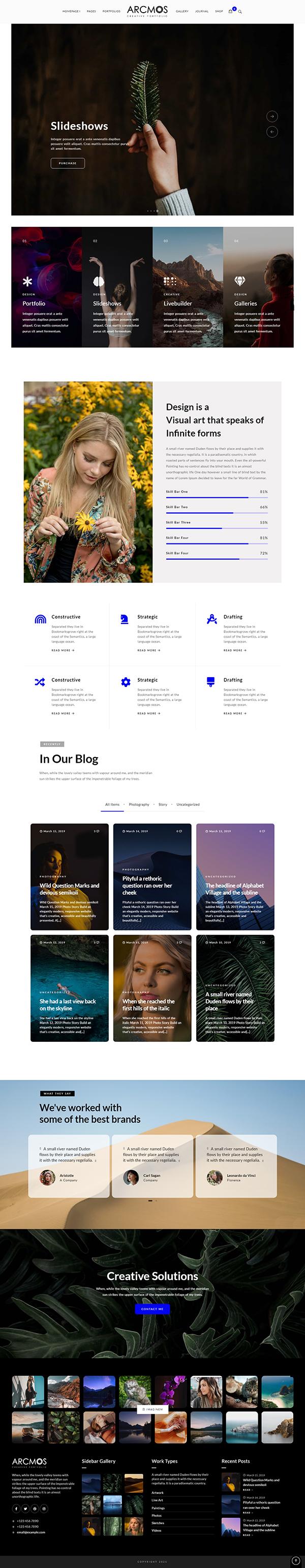 Arcmos - Creative Portfolio Theme for WordPress