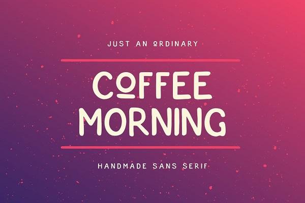Coffee Morning Font