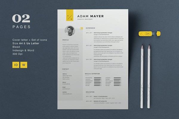 Resume Adam Font
