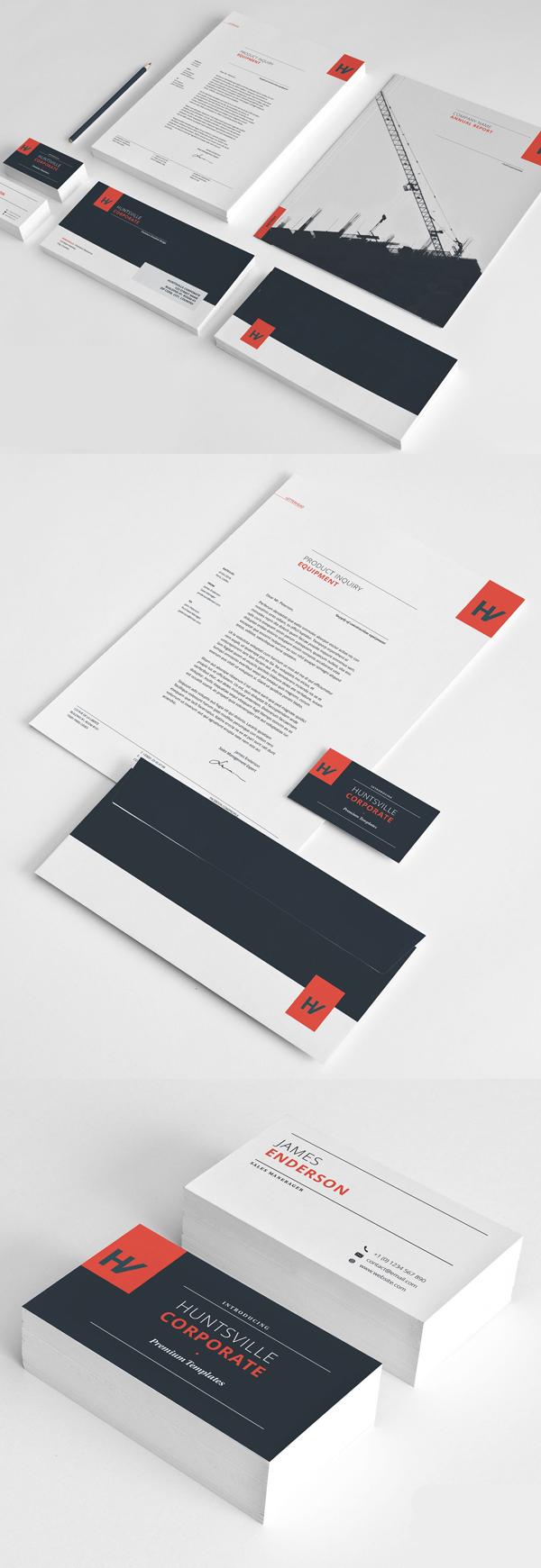 50 Professional Corporate Branding / Stationery Templates Design - 1