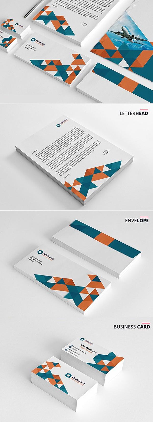 50 Professional Corporate Branding / Stationery Templates Design - 14