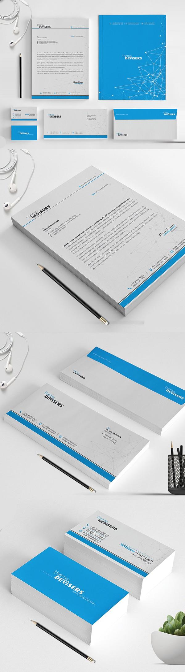 50 Professional Corporate Branding / Stationery Templates Design - 16