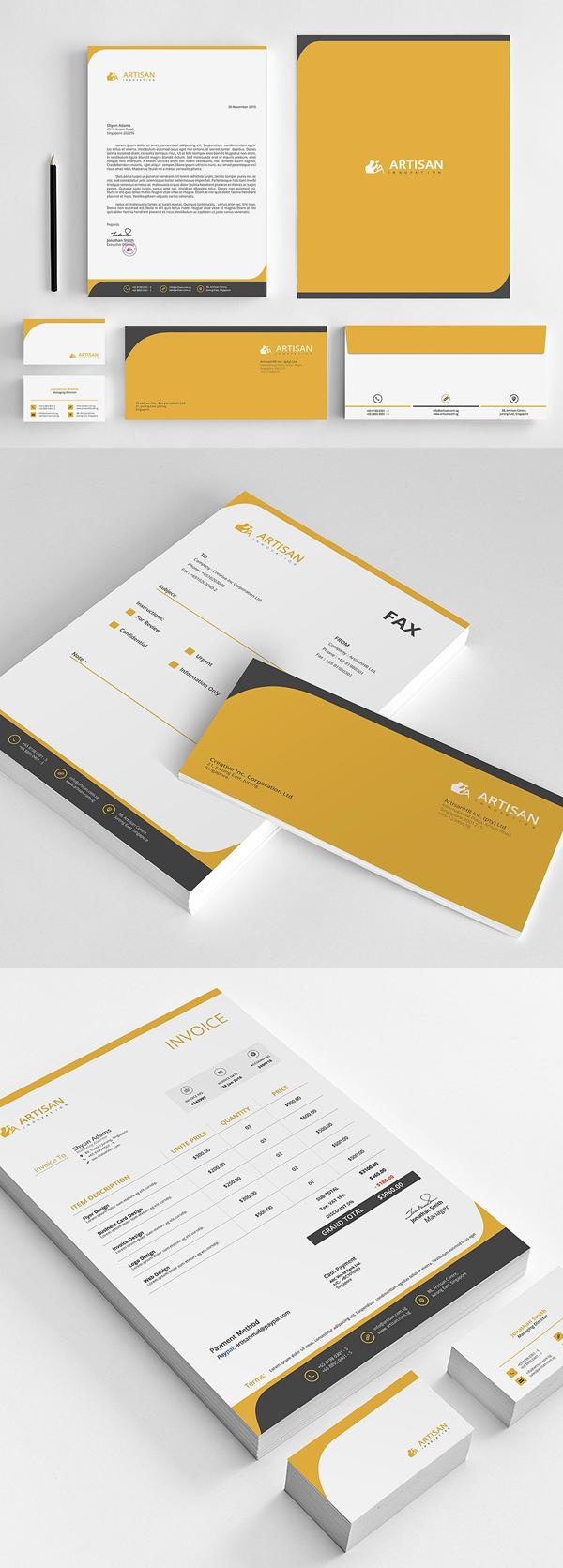 50 Professional Corporate Branding / Stationery Templates Design - 15