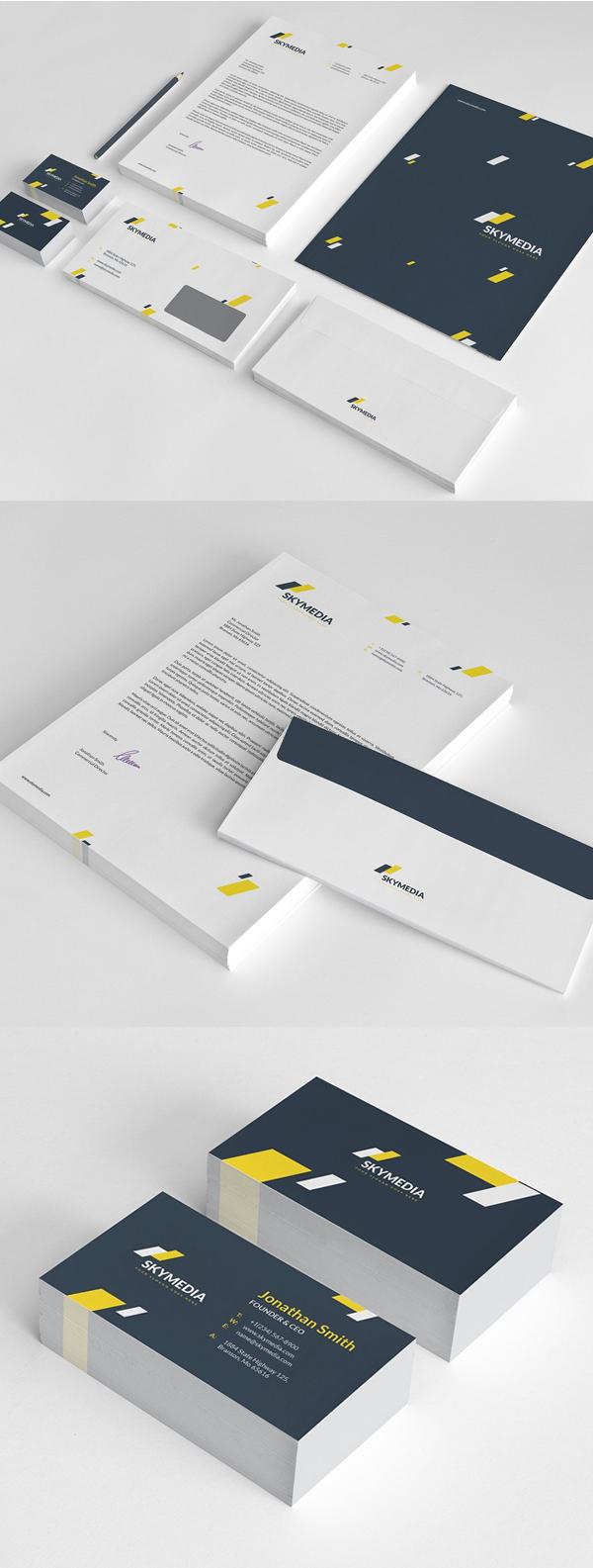 50 Professional Corporate Branding / Stationery Templates Design - 2