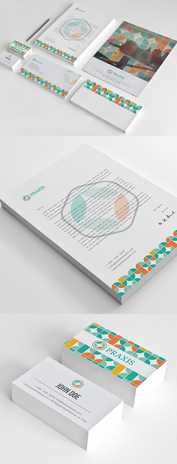 50 Professional Corporate Branding / Stationery Templates Design - 7