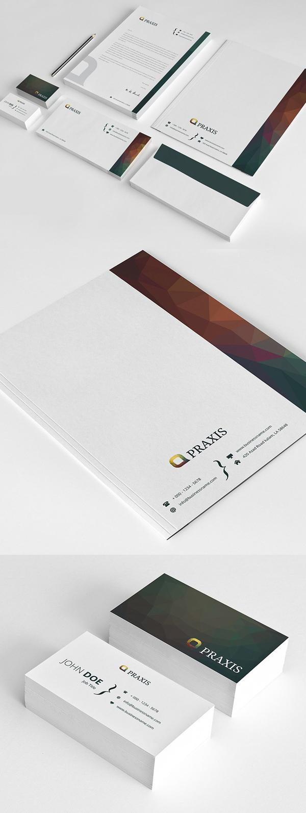 50 Professional Corporate Branding / Stationery Templates Design - 8