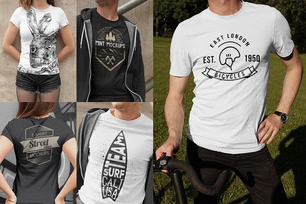 T-Shirt Mockups Street Edition Font