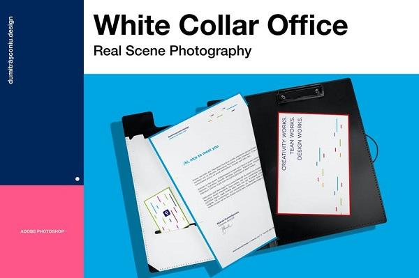 White Stationary Mock-up Font