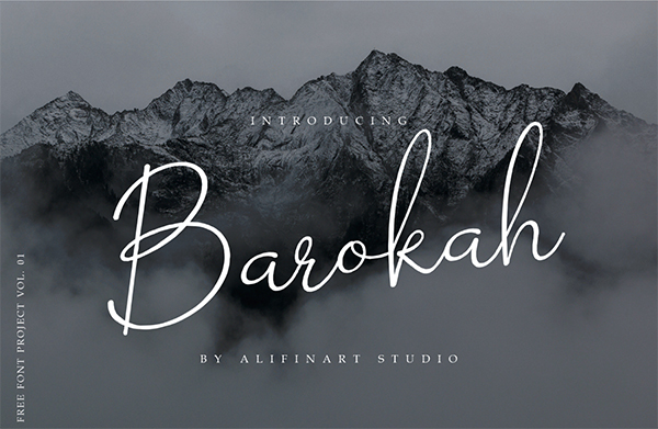 Barokah Signature Free Font