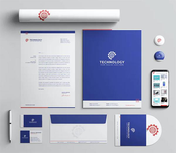 Technology Branding Identity & Stationery Pack