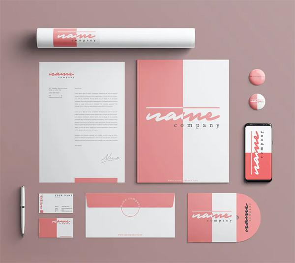 Pink Brand Identity