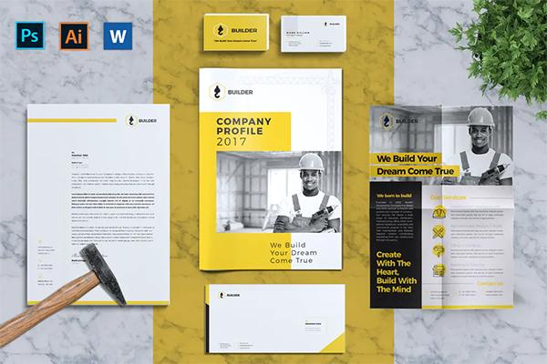 Builder | Construction Corporate Branding Identity