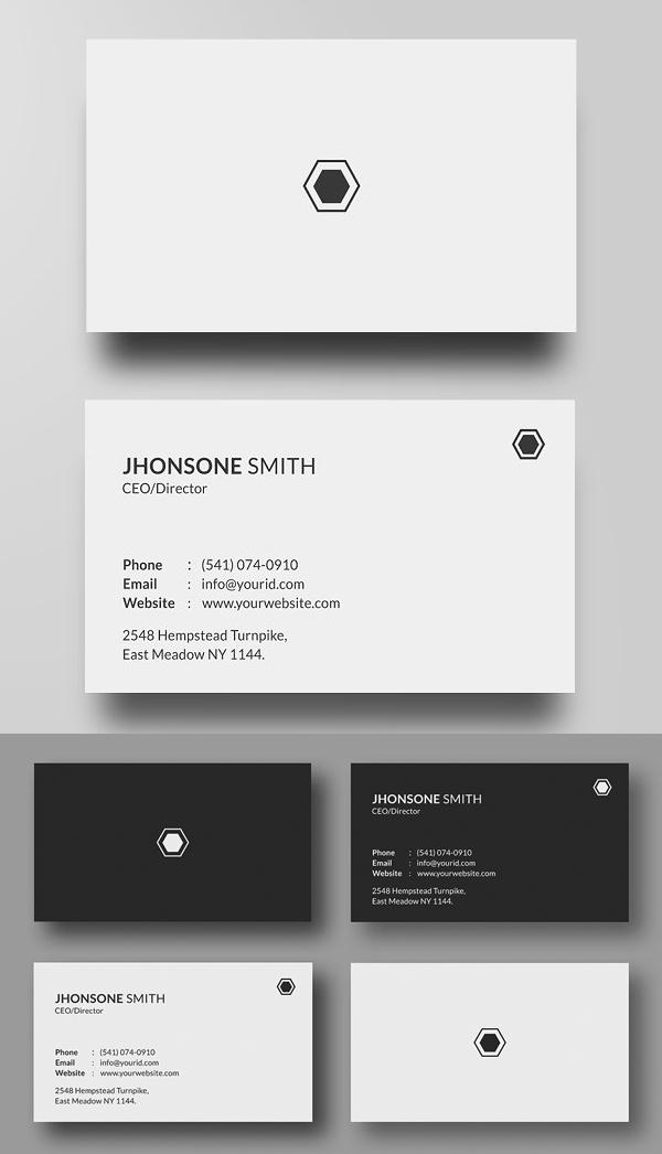 Creative Business Card PSD Templates (25 Print Ready Design)