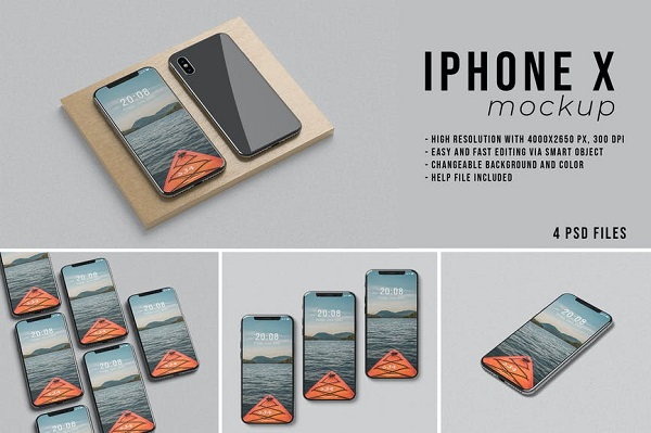 iPhone X Mockup Font