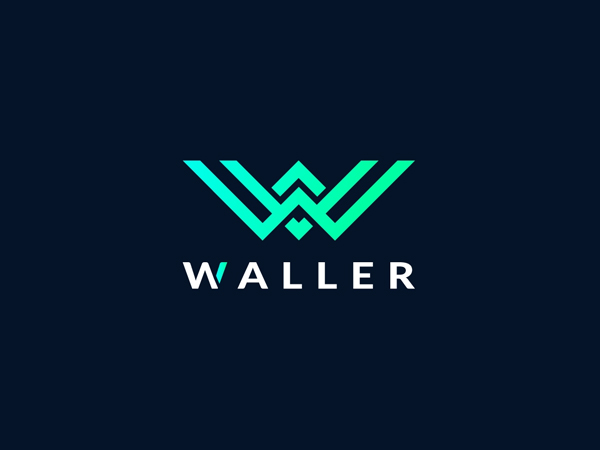 W Letter Logo Mark For WALLER by Bipol Hossan Free Font