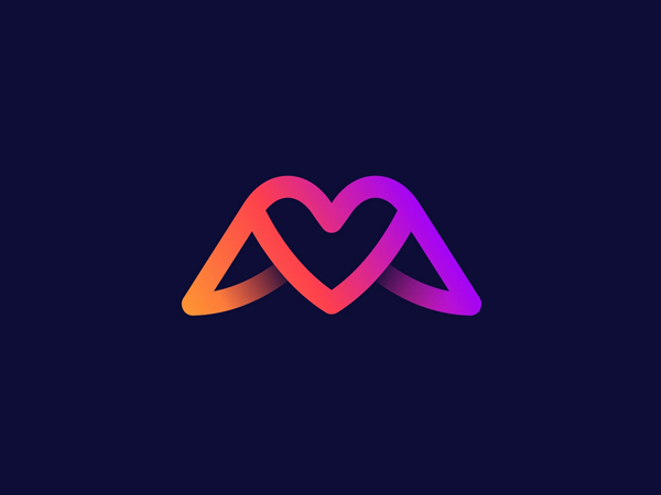 Wing + Love Logo by Arif Hossain Free Font
