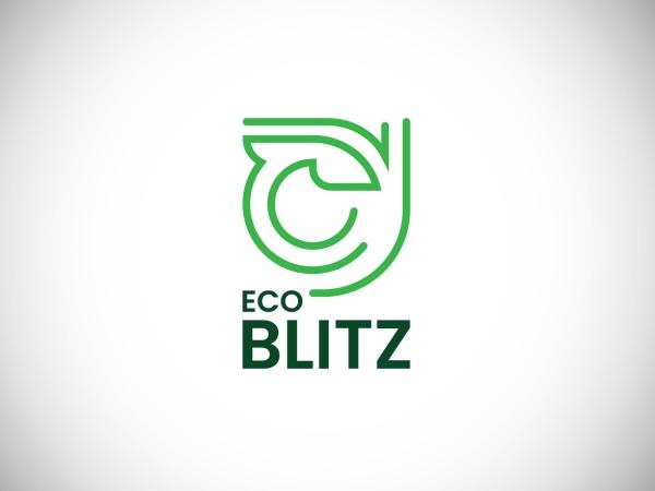 Eco Blitz logo concept by Md Humayun Kabir Free Font
