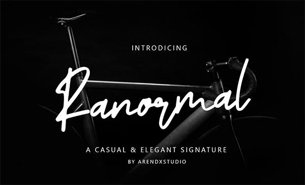 Ranormal Free Script Font