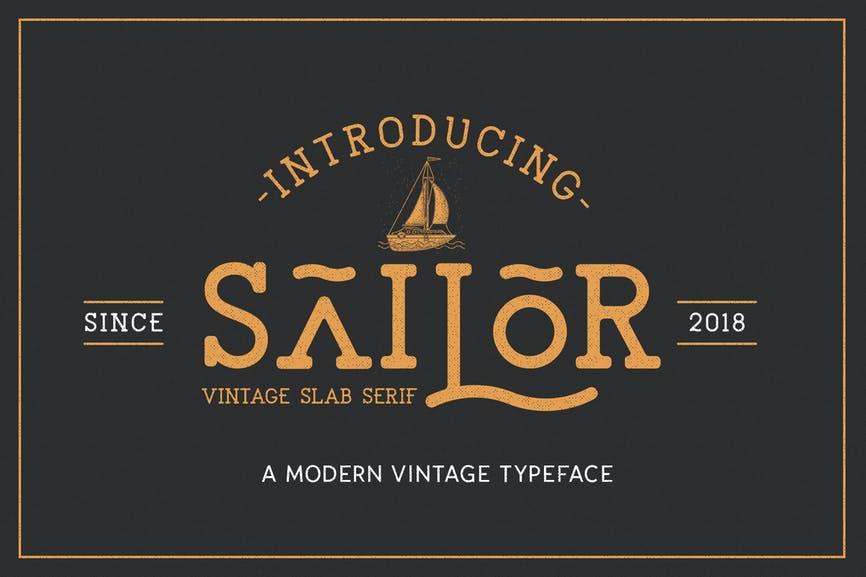 The Sailor Font