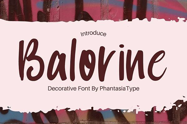 Balorine Free Font