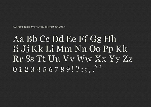 Gap Font Letters