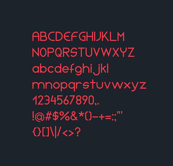 Initia Sans Font Letters