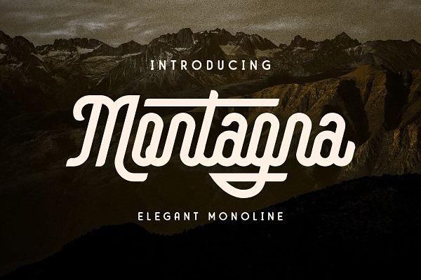 Montagna Monoline Free Font