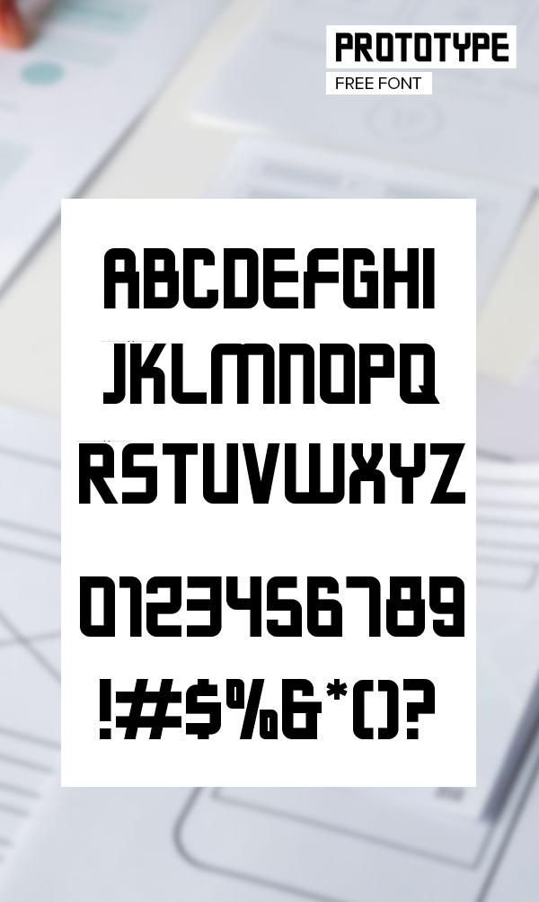 Prototype Font Letters